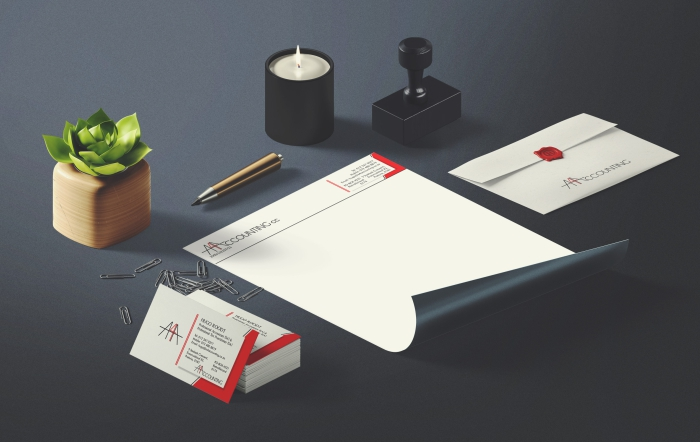 A4 Accounting stationery design