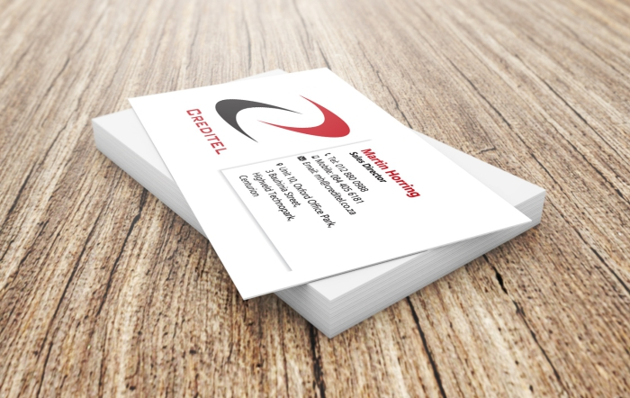 Creditel business card design