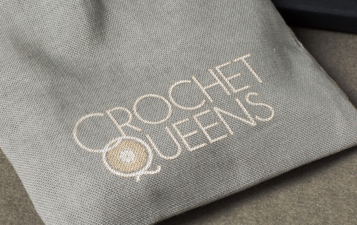 Crochet queens logo design