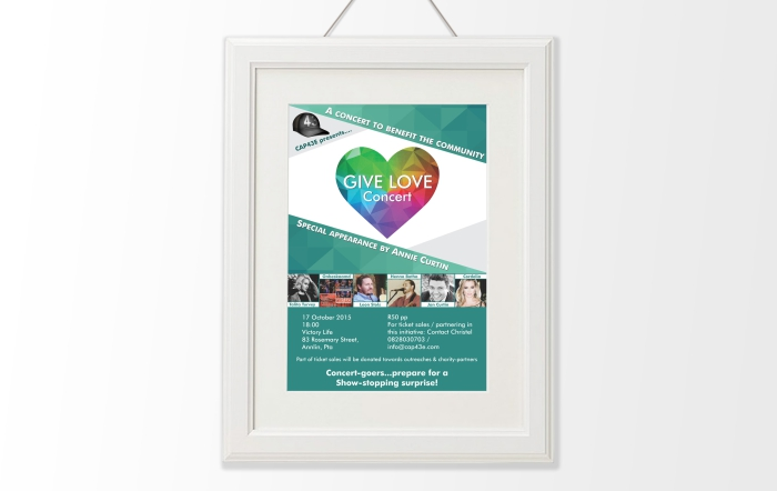 Give love poster design