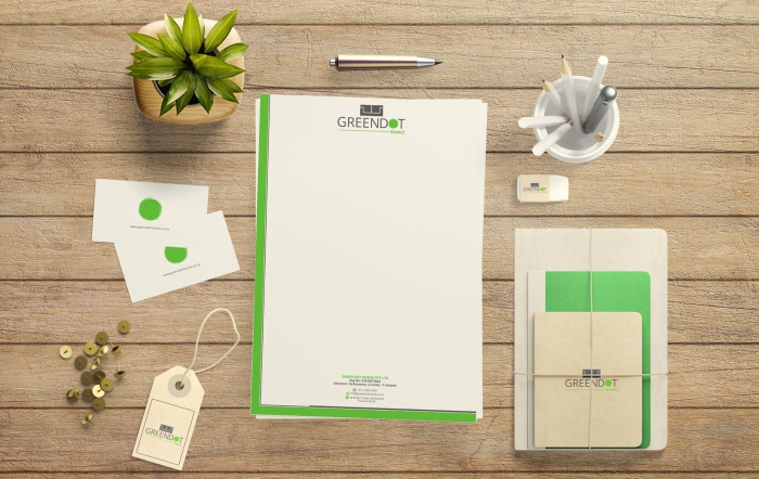 Green dot homes brand design