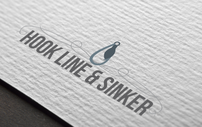 Hook line and sinker logo design