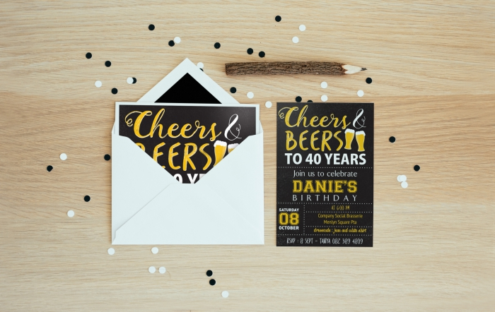 Party invitation design