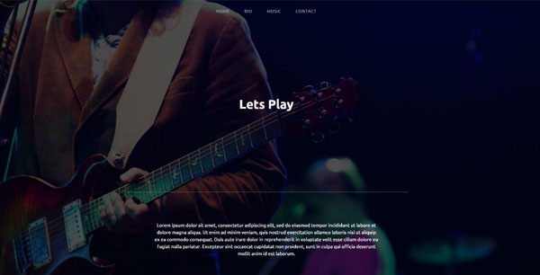 Mint anchor website template - Lets play