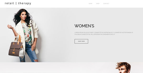 Mint anchor website template - Retail Therapy