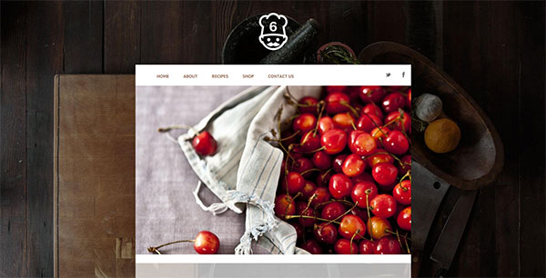 Mint anchor website template - Table
