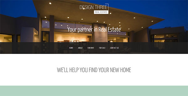 Mint anchor website template - The Real Estate