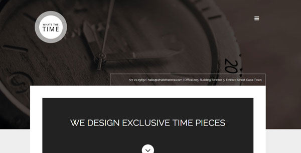 Mint anchor website template - Whats the time