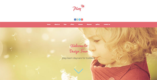 Mint anchor website template - Play